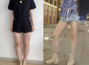 腿型难看不能穿紧身裤,在天津伊